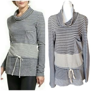 Anthro Saturday Sunday | Striped Cowlneck Tunic M